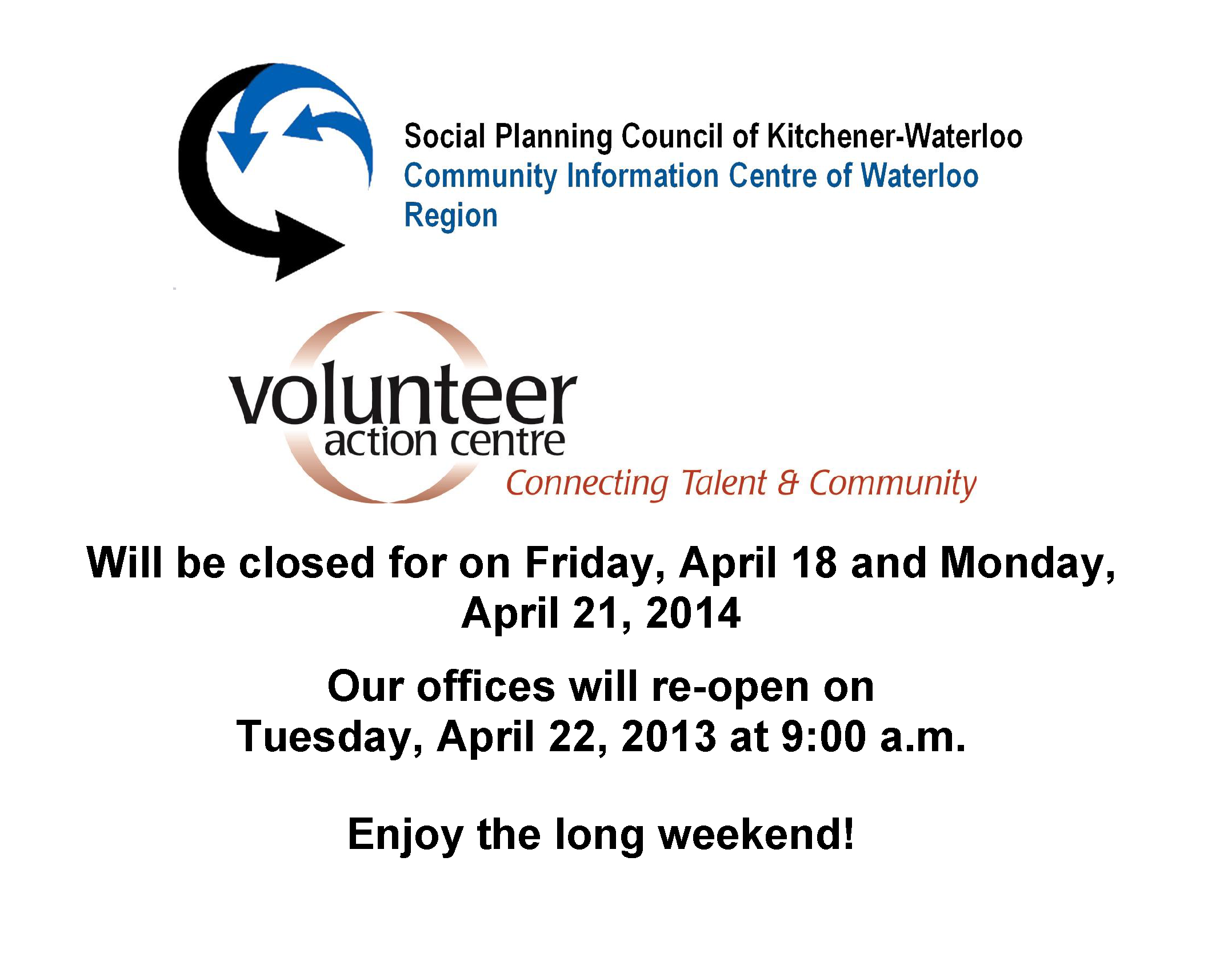 Easter Closure 2014