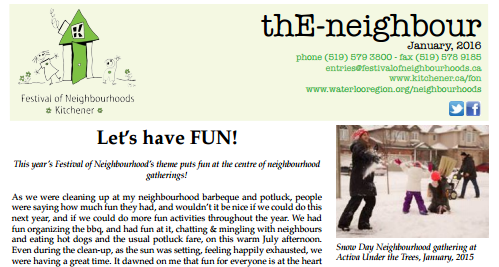 January 2016 E-Neighbour