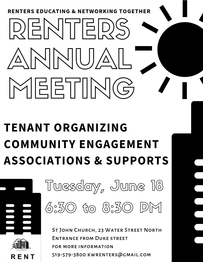 Renters Educating and Networking Together | Renters Annual Meeting | Tenant Organizing | Community Engagement | Associations and Support